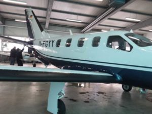 Flugzeug Aussenaufbereitung - Nachher Bild - Koblenzer Aufbereitungsservice